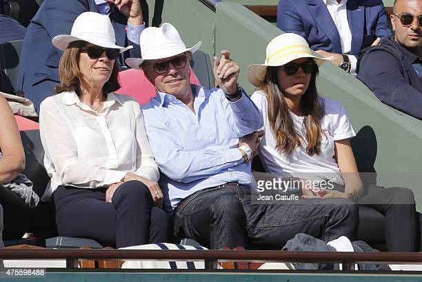 Beatrice Leeb Michel Leeb and their daughter Elsa Leeb attend day 9 of the French Open 2015 at Roland Garros stadium on June 1 2015 in Paris France