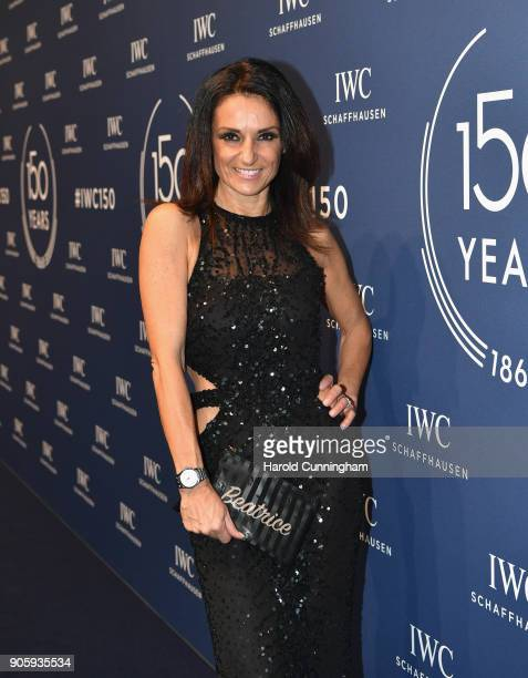 Beatrice Lessi attends the IWC Schaffhausen Gala celebrating the Maison's 150th anniversary and the launch of its Jubilee Collection at the Salon...