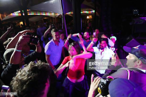 Beatrice Lewis of Haiku Hands dances in the crowd at Disco @ SXSW during the 2019 SXSW Conference and Festivals at The Main on March 12 2019 in...