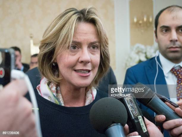 Beatrice Lorenzin Minister of Health during a health press conference in Calabria southern Italy