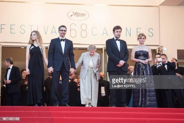 Beatrice Mancini, John Turturro, Giulia Lazzarini, Nanni Moretti et Margherita Buy lors de la montée des marches pour la première du film 'Mia Madre'...