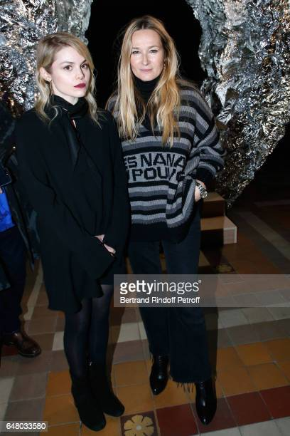 Beatrice Martin alias Coeur de Pirate and Stylist Julie de Libran pose after the Sonia Rykiel show as part of the Paris Fashion Week Womenswear...