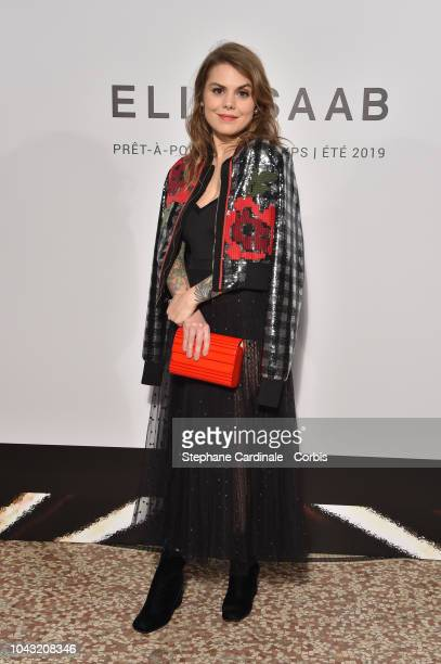 Beatrice Martin asa Coeur de Pirate attends the Elie Saab show as part of the Paris Fashion Week Womenswear Spring/Summer 2019 on September 29 2018...