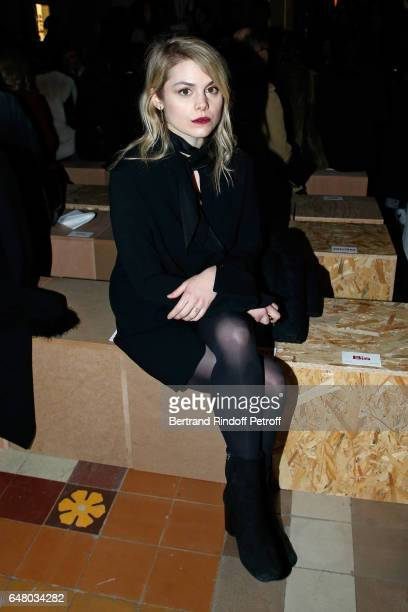 Beatrice Martin Coeur de Pirate attends the Sonia Rykiel show as part of the Paris Fashion Week Womenswear Fall/Winter 2017/2018 on March 4 2017 in...