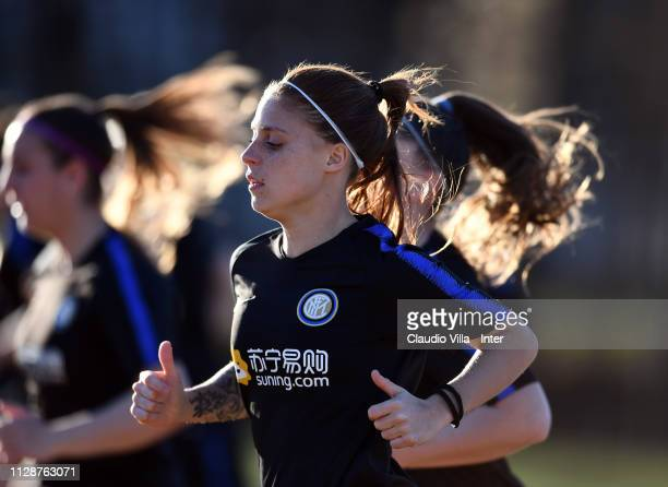 Beatrice Merlo of FC Internazionale Women in action during a training session at Suning Youth Development Centre in memory of Giacinto Facchetti on...