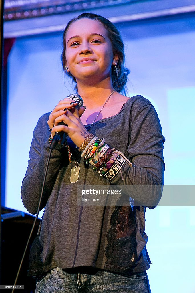 Beatrice Miller, program alumna, attends 'Girl Be Heard' Rebranding Launch Event at The Cutting Room on January 28, 2013 in New York City.
