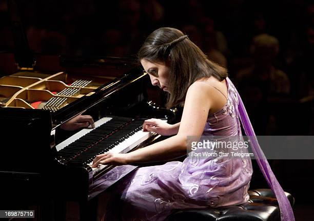 Beatrice Ran of Italy performs during the Van Cliburn International Piano Competition at Bass Performance Hall in Fort Worth Texas Monday June 3 2013