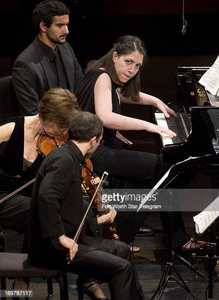 Beatrice Rana of Italy performs with the Brentano String Quartet in the semifinal round of the Van Cliburn International Piano Competition at Bass...