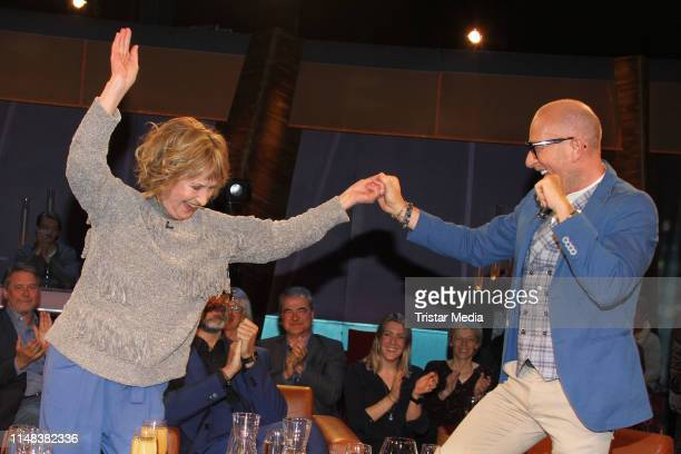 Beatrice Richter and Thomas Rath during the NDR Talk show on May 10 2019 in Hamburg Germany