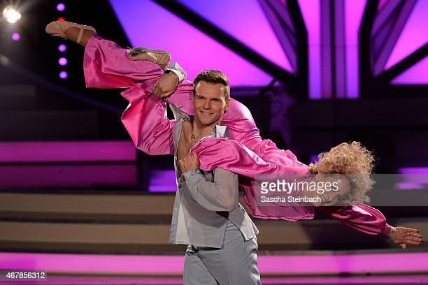 Beatrice Richter and Vadim Garbuzov perform on stage during the 3rd show of the television competition 'Let's Dance' on March 27 2015 in Cologne...