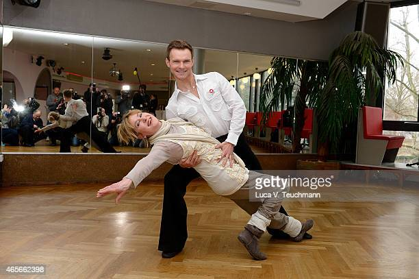 Beatrice Richter and Vadim Garbuzov pose at a photo call for the television competition 'Let's Dance' on March 9 2015 in Berlin Germany On March 13th...