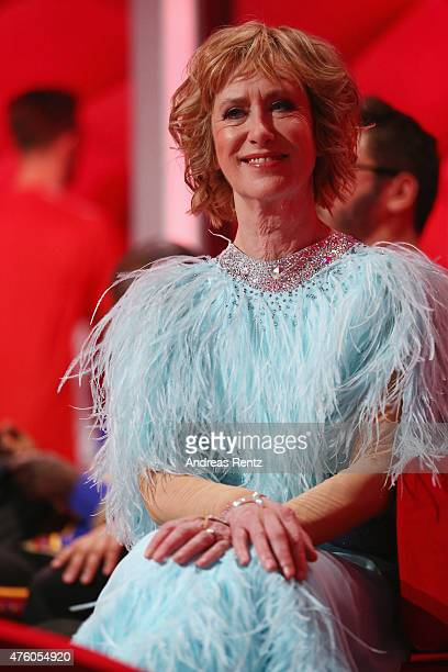 Beatrice Richter attends the final show of the television competition 'Let's Dance' on June 5 2015 in Cologne Germany