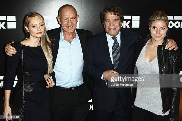 Beatrice Rosen Dominique Bergin Bernard Tapie and his daughter Sophie Tapie attend the 'Look' Boutique Opening on October 17 2011 in Paris France