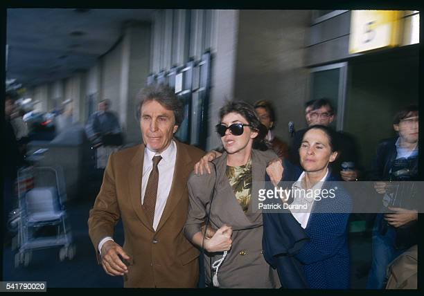 Beatrice Saubin arrives in Paris with her lawyers Paul Lombard and Karen Kerreby after spending 10 years in jail in Malaysia for drug smuggling