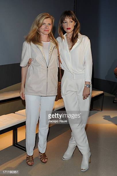 Beatrice Trussardi and Gaia Trussardi attend the Trussardi show during Milan Menswear Fashion Week Spring Summer 2014 on June 23 2013 in Milan Italy