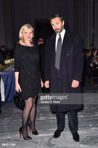 Beatrice Trussardi and Manfredi Catella attend Michel Comte Black Light White Light Opening at Triennale di Milano on November 27 2017 in Milan Italy