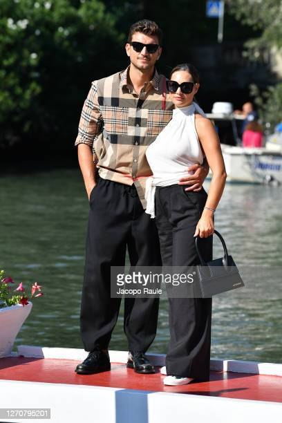 Beatrice Valli and Marco Fantini are seen arriving at the Excelsior during the 77th Venice Film Festival on September 05 2020 in Venice Italy