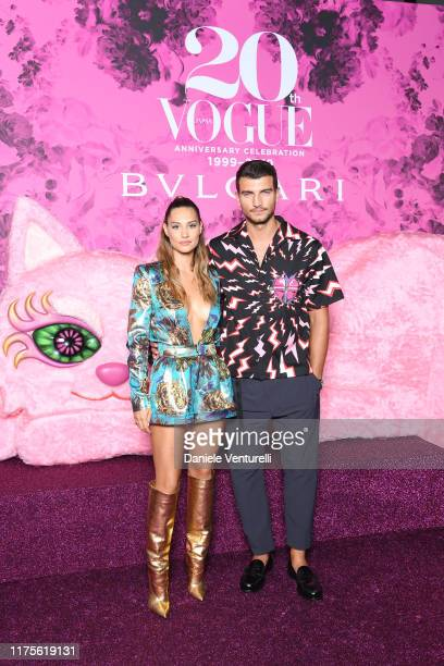 Beatrice Valli and Marco Fantini attend the Vogue Japan 20th Anniversary Party on September 18, 2019 in Milan, Italy.