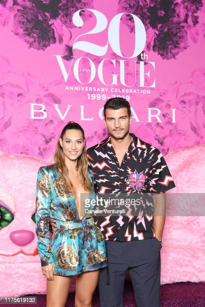 Beatrice Valli and Marco Fantini attend the Vogue Japan 20th Anniversary Party on September 18 2019 in Milan Italy