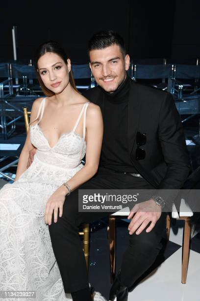 Beatrice Valli and Marco Fantini attends Atelier EME Fashion Show on March 07 2019 in Verona Italy