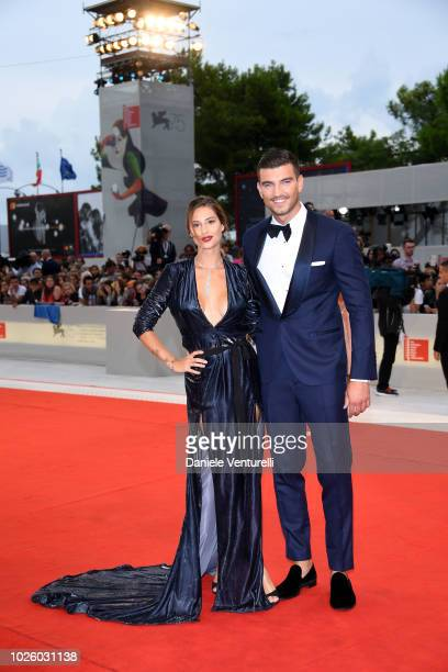 Beatrice Valli and Marco Fantini walks the red carpet ahead of the 'Suspiria' screening during the 75th Venice Film Festival at Sala Grande on...