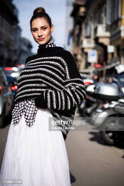 Beatrice Valli attends the Ermanno Scervino show at Milan Fashion Week Autumn/Winter 2019/20 on February 23 2019 in Milan Italy