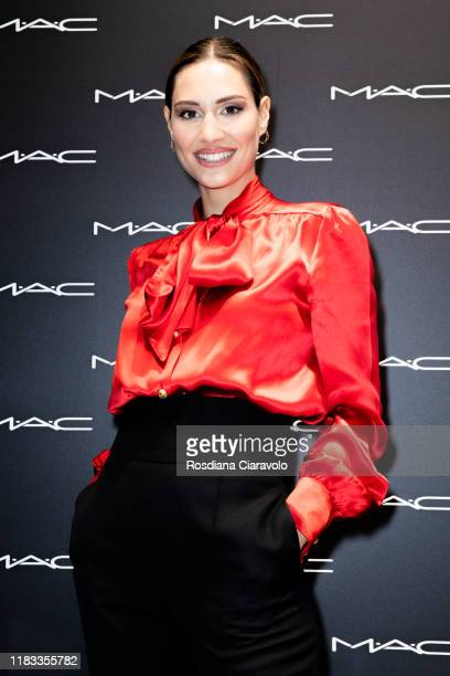 Beatrice Valli attends the presentation of Holiday MAC Starring You Collection at MAC Pro Store on October 24 2019 in Milan Italy