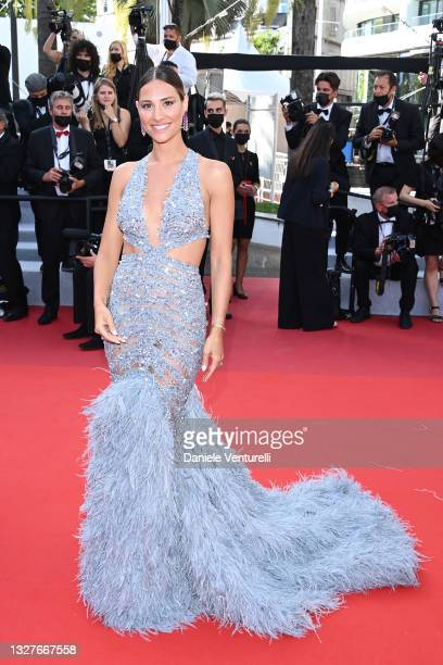 """Beatrice Valli attends the """"Stillwater"""" screening during the 74th annual Cannes Film Festival on July 08, 2021 in Cannes, France."""