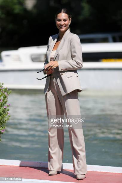 Beatrice Valli is seen arriving at the 76th Venice Film Festival on September 03 2019 in Venice Italy