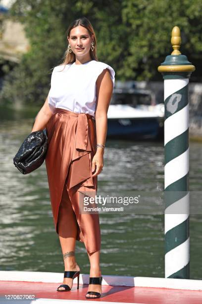 Beatrice Valli is seen arriving at the Excelsior during the 77th Venice Film Festival on September 04, 2020 in Venice, Italy.