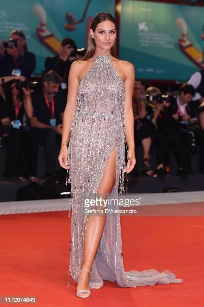 Beatrice Valli walks the red carpet ahead of the Om Det Oandliga screening during the 76th Venice Film Festival at Sala Grande on September 03 2019...