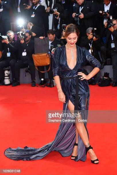 Beatrice Valli walks the red carpet ahead of the 'Suspiria' screening during the 75th Venice Film Festival at Sala Grande on September 1 2018 in...