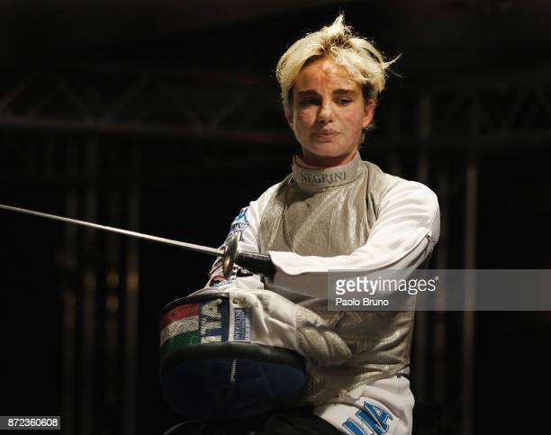 Beatrice Vio of Italy looks on during the IWAS Wheelchair Fencing World Championships on November 8 2017 in Rome Italy