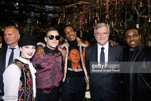 Beatrice Vio Rami Malek ASAP Rocky CEO Dior Sidney Toledano and ASAp Ferg attend the Christian Dior Haute Couture Spring Summer 2017 show as part of...