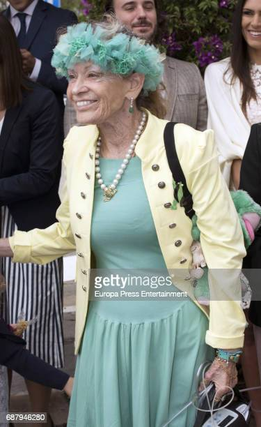 Beatrice von HardenbergFürstenberg attends the Christening of Flavia Porras daughter of Olivia de Borbon and Julian Porras at Inmaculada Concepcion...
