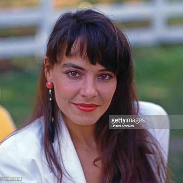 """Beatrix Bilgeri, österreichische Schauspielerin in der Fernsehserie """"Ein Schloss am Wörthersee"""", Deutschland 1991"""