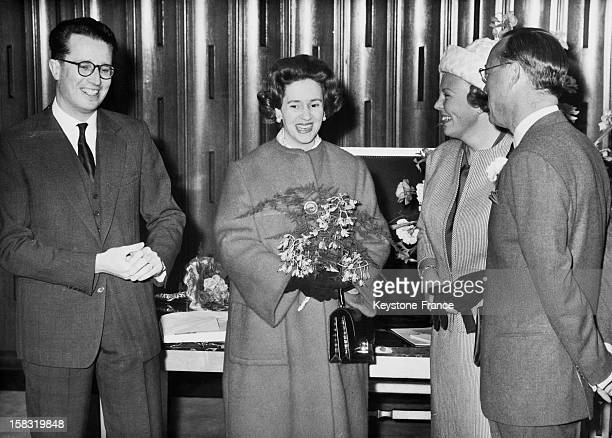 Beatrix of the Netherlands with Prince Bernhard of LippeBiesterfeld welcome King Baudouin Of Belgium And Wife Queen Fabiola for the European Congress...
