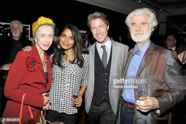 Beatrix Ost, Gayatri Devi, Thomas Woltz and Ludwig Kuttner attend BOMB Magazine's 29th Anniversary Gala and Silent Auction at The National Arts Club...