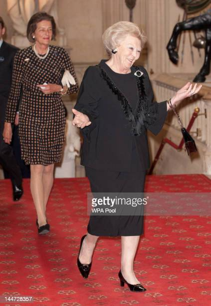 Beatrix Queen of the Netherlands arrives at a lunch for Sovereign Monarch's held in honour of Queen Elizabeth II's Diamond Jubilee at Windsor Castle...