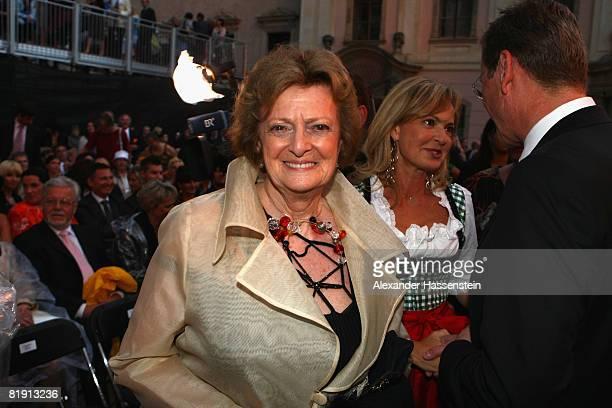 Beatrix von SchoenburgGlauchau attends the opera 'Carmen' at the Thurn und Taxis castle festival on July 11 in Regensburg Germany