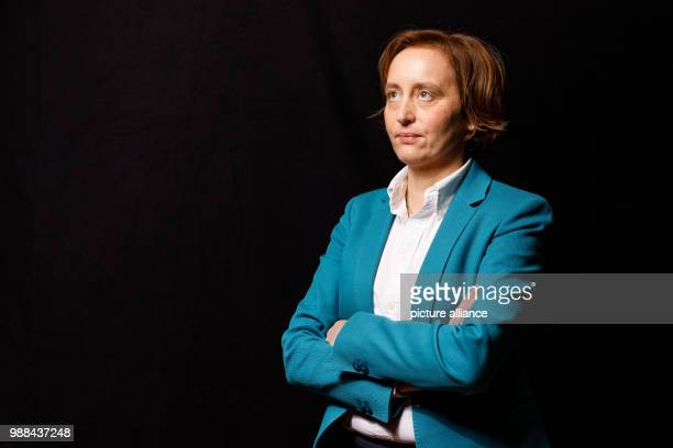 Beatrix von Storch deputy chairwoman of the Alternative for Germany stands in a mobile photo studio in the course of the AfD's party conference at...