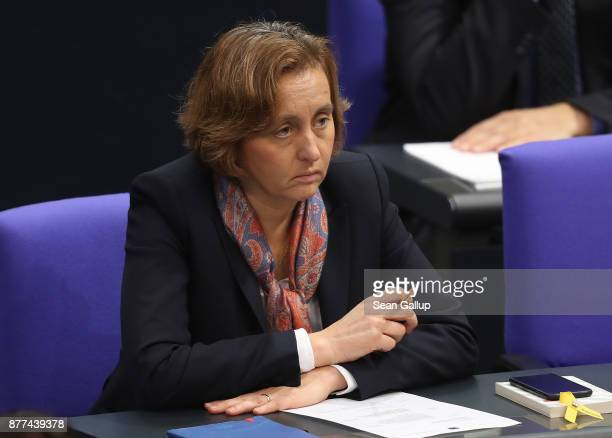 Beatrix von Storch of the rightwing Alternative for Germany political party attends a Bundestag session on November 22 2017 in Berlin Germany The AfD...