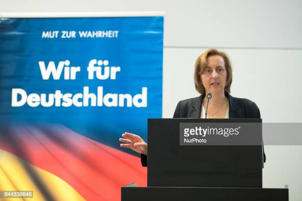 Beatrix von Storch speaks during an event organized from the Alternative for Germany at the Citadel Spadau in Berlin Germany on September 8 2017