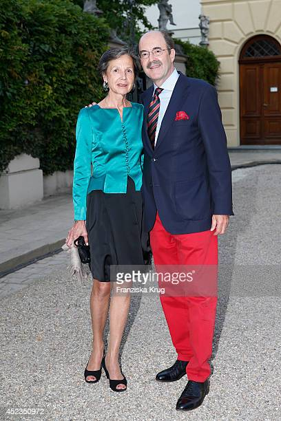Beatrix von Thurn und Taxis and Fritz von Thurn und Taxis attend the Thurn Taxis Castle Festival 2014 Rigoletto on July 18 2014 in Regensburg Germany