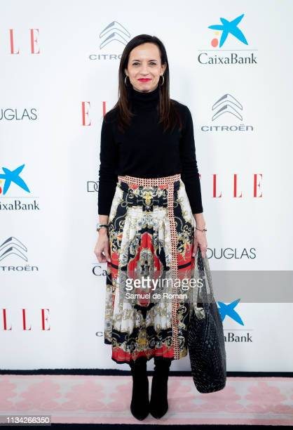 Beatriz Corredor attends Elle Women's Day photocall on March 07, 2019 in Madrid, Spain.