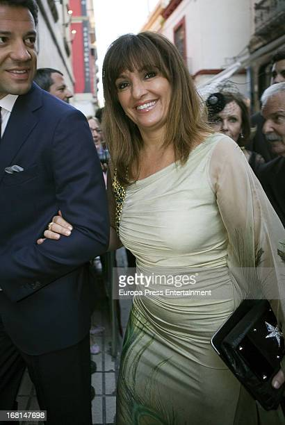 Beatriz Cortazar attends the wedding of Fernando Solis and Eva Morejon at Divino Salvador Church on May 4 2013 in Seville Spain