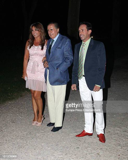 Beatriz Cortazar Jaime Penafiel and Jesus Manuel attend the 47th birthday party of Terelu Campos at Casa Monico Restaurant on September 5 2012 in...