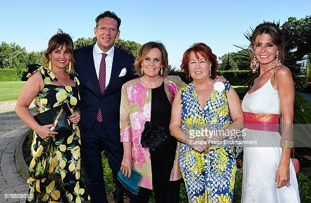Beatriz Cortazar Joaquin Prat Paloma Barrientos Rosa Villacastin and Marisa Martin Blazquez attend the wedding of Alvaro Rojo and Ana Villarubia...