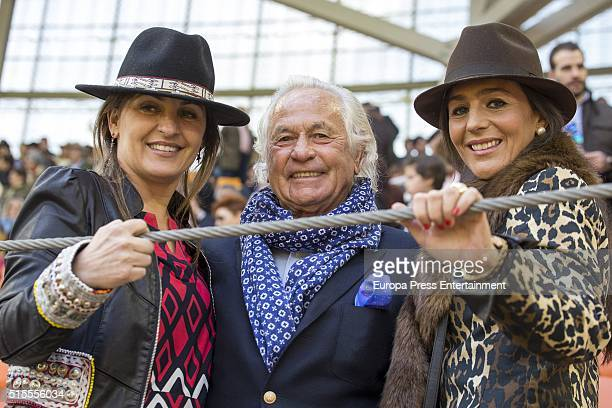 Beatriz Cortazar Sebastian Palomo Linares and Concha Azuara attend the traditional Spring Bullfighting performance on March 12 2016 in Illescas Spain