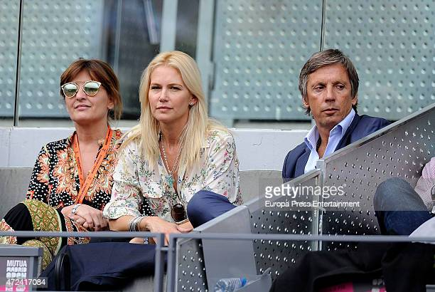 Beatriz Cortazar Valeria Mazza and Alejandro Gravier attend the Mutua Madrid Open tennis tournament on May 6 2015 in Madrid Spain